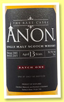 Anon. 13 yo 2001/2015 (51.5%, Abbey Whisky, The Rare Casks, single malt)