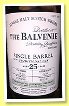 Balvenie 25 yo 1989/2015 (47.8%, OB, Single Barrel, cask #1864, 300 bottles)