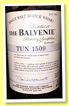 Balvenie 'Tun 1509 - Batch No.2' (50.3%, OB, 8500 bottles, 2015)