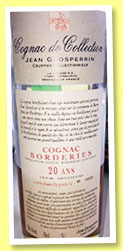 Borderies 20 yo (58.4%, Jean Grosperrin, cognac, lot N 248, 315 litres)
