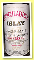 Bruichladdich 10 yo 1965 (95° proof, OB for Samaroli, +/-1975)