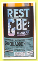 Bruichladdich 12 yo 2002/2015 (64.1%, Rest & Be Thankful, bourbon, cask #588, 233 bottles)