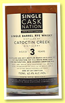 Catoctin Creek 3 yo 2011/2015 (62.4%, Single Cask Nation, rye, USA, cask #107, 251 bottles, 2015)