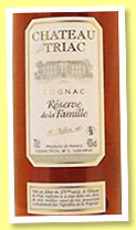 Château de Triac 'Reserve de la Famille' (40%, OB, Tiffon, cognac, single estate, +/-2014)