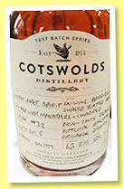 Costwolds 2014/2015 (63%, OB, single malt spirit, England, cask #32)