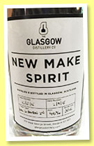 Glasgow Distillery 4 mo 2015/2015 (46%, OB, new make spirit, refill bourbon)