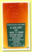 Glenlivet 33 yo 1981/2015 (51%, Signatory Vintage, for The Whisky Exchange, refill sherry, cask #9464, 175 bottles)