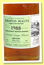Glenrothes 1988/2015 'Marmalade Appeal' (46%, Wemyss Malts, butt, 629 bottles)