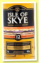 Isle of Skye 12 yo (40%, Ian Macleod, blended Scotch, +/-2015)