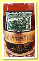 Jamaica 8 yo (50%, Rum Nation, oloroso sherry finish, 2015)