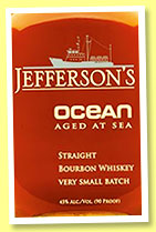 Jefferson's Ocean 'Aged at Sea' (45%, OB, Kentucky straight bourbon, +/-2015)