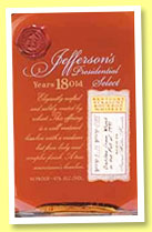 Jefferson's Presidential Select 18 yo 1991 (47%, OB, Kentucky straight bourbon, batch #15, +/-2009)