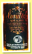 Limited 13 yo 2001/2015 (51.5%, Whisky Circle Pinzgau, Germany)