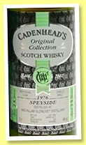 Macallan-Glenlivet 23 yo 1976/1999 (46%, Cadenhead's Original Collection, sherry butt, 300 bottles)