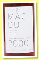 Macduff 2000/2011 (59.8%, Svenska Eldvatten, first fill sherry butt, cask #5787)