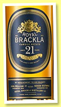 Royal Brackla 21 yo (40%, OB, 2015)
