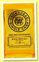 Royal Brackla 30 yo 1984/2015 (54.1%, Cadenhead, Single Cask)