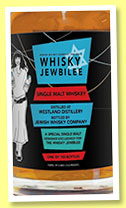 Westland 'Whisky Jewbilee' (59%, Jewish Whisky Company, American single malt, 150 bottles, 2015)