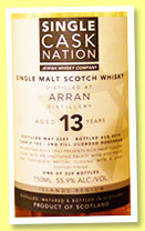 Arran 13 yo 2001/2014 (55.9%, Single Cask Nation, 2nd fill oloroso hogshead, cask #102, 329 bottles)