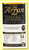 Arran 14 yo 2000/2015 (55.5%, OB for The Whisky Exchange, bourbon, cask #2000/1106, 197 bottles)