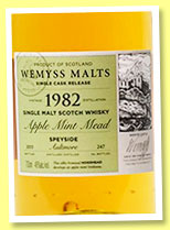 Aultmore 1982/2015 'Apple Mint Mead' (46%, Wemyss Malts, hogshead, 247 bottles)