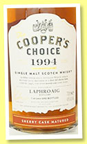 Laphroaig 1994/2015 (46%, Coopers Choice, 1st fill sherry, cask #3441, 690 bottles)