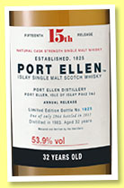 Port Ellen 32 yo 1983/2015 '15th Release' (53.9%, OB, 2964 bottles)