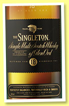 The Singleton of Glen Ord 18 yo (40%, OB, sherry cask finish, +/-2015)