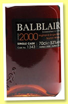 Balblair 2000/2014 (53%, OB, The whisky Exchange, first fill sherry, cask #1343)