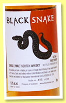 Black Snake 'Vat 6 First Venom' (56.3%, Blackadder, PX Sherry Cask, 398 bottles, 2015)