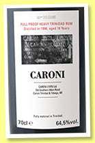 Caroni 16 yo 1998/2014 'Full Proof' (64.5%, Velier, Trinidad, 18 bourbon casks)