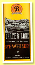 Crater Lake Rye (40%, OB, Bendistillery, Oregon, +/-2015)