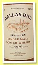 Dallas Dhu 1975/2010 (40%, Gordon & MacPhail, licensed bottling, refill barrel)