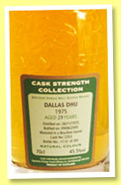 Dallas Dhu 29 yo 1975/2005 (45.5%, Signatory Vintage, bourbon barrel, cask #2353, 201 bottles)