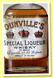 Dunville's Special Liqueur Whisky (70° proof, OB, rotation 1948)