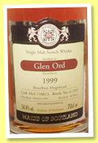 Glen Ord 1999/2011 (54.4%, Malts of Scotland, bourbon hogshead, cask # MoS 110013, 292 bottles)