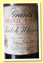Grant's 'Stand Fast' (70° proof, OB, blend, early 1930s)