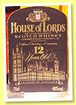 House of Lords 12 yo (40%, OB, blend, France, +/-1980)