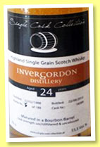 Invergordon 24 yo 1988/2012 (55.5%, Single Cask Collection, barrel, cask #18589, 188 bottles)
