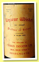 Liqueur Whiskey 36 yo (75° proof, Charles Deighton Ltd, Irish, bottled 1940s)