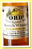 Ord 12 yo (76° proof, OB, UK, +/-1970)