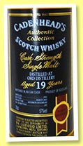 Ord 19 yo 1983/2003 (57%, Cadenhead's Authentic Collection, bourbon hogshead, 282 bottles)