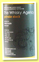 Port Ellen 27 yo 1983/2010 (55.6%, The Whisky Agency, Private Stock, refill sherry, 96 bottles)