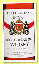Tullibardine Royal 15 yo (40%, Amalgamated Brewing co ltd Dundalk, 75cl, +/-1980)