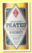 Westland 2 yo – 24 mo 'Peated' (46%, OB, USA, single malt, 3000 bottles, Oct. 2014)