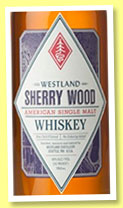 Westland 2 yo – 26 mo 'Sherry Wood' (46%, OB, USA, single malt, 5000 bottles, Dec. 2014)