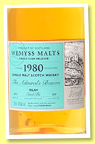 Caol Ila 1980/2015 'The Admiral's Beacon' (46%, Wemyss Malts, hogshead, 285 bottles)