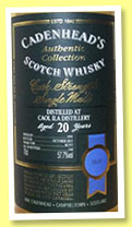 Caol Ila 20 yo 1995/2015 (57.7%, Cadenhead, Authentic Collection, butt, 564 bottles)