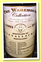 Glenallachie 22 yo 1993/2015 (57.3%, The Warehouse Collection, bourbon hogshead, cask #5077, 244 bottles)