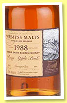Invergordon 1988/2015 'Rosy Apple Brulé' (46%, Wemyss Malts, butt, 494 bottles)